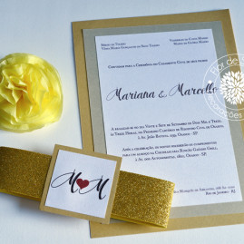 Convite Casamento M&M