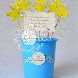 Kit Chá de Bebê Pequeno Príncipe - Vaso com estrelas