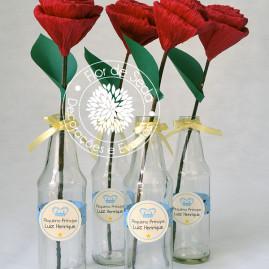Kit Chá de Bebê Pequeno Príncipe - Vaso com rosas