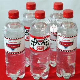 Kit festa infantil Carros - rótulo para água