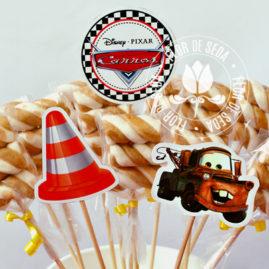 Kit festa infantil Carros - Toppers decorativos