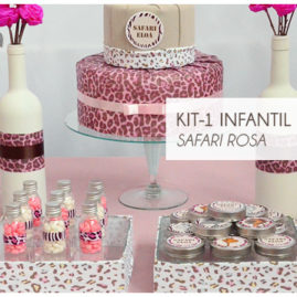 KIT FESTA INFANTIL SAFARI ROSA KIT1