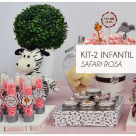 KIT FESTA INFANTIL SAFARI ROSA KIT2