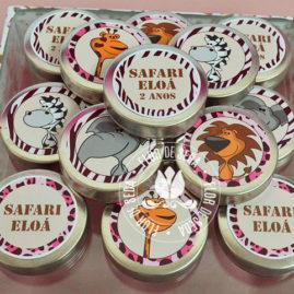 Kit festa infantil Safari Rosa - Latinhas de alumínio
