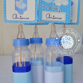 Kit Chá de Bebê - Cegonha - Mamadeiras decorativas