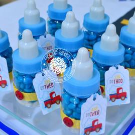 Lembrança chá de bebê - Mini mamadeira fita lisa e botão