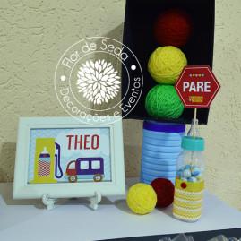 Chá de Bebê Menino - Carros e Transportes - Decoração mesa de doces