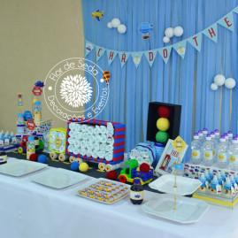 Chá de Bebê Menino - Carros e Transportes - Mesa Principal