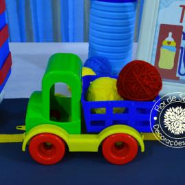 Chá de Bebê Menino - Carros e Transportes - Detalhe da Mesa Principal