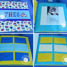 Chá de Bebê Menino - Carros e Transportes - Livro de lembranças