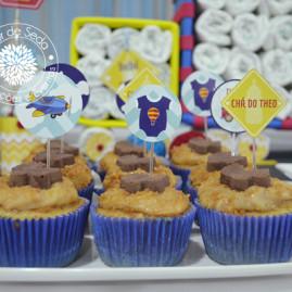Toppers para Chá de Bebê Menino - Carros e Transportes - Toppers para Cupcakes