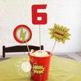 Kit Festa Infantil Flash - Centro de mesa