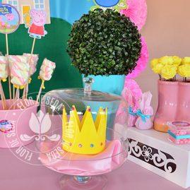 Kit festa infantil Peppa Pig-Toppers decorativos para mesa
