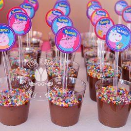Kit festa infantil Peppa Pig-mini toppers para docinhos