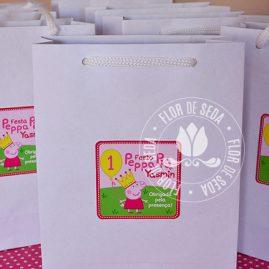 Kit festa infantil Peppa Pig-Sacola personalizada