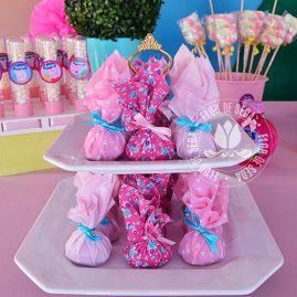 Kit festa infantil Peppa Pig-Trouxinhas de bombom