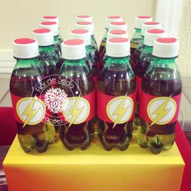Kit Festa Infantil Flash - Rótulo para água/ ou refrigerante