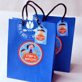 Kit festa infantil Show da Luna -Sacolas personalizadas