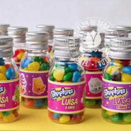 Kit festa infantil ShopKins - frasco Pet