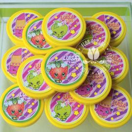 Kit festa infantil ShopKins - latinhas