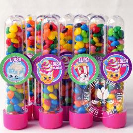 Kit festa infantil ShopKins  - tubetes