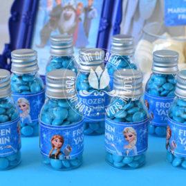 Kit festa infantil Frozen - Frasco pet