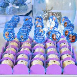 Kit festa infantil Frozen - Mini toppers para doces