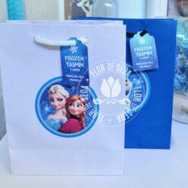 Kit festa infantil Frozen - Sacolas personalizadas para lembranças