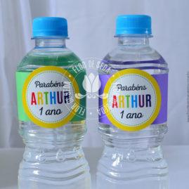 Kit festa infantil Colorida -Rótulo para água