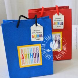 Kit festa infantil Colorida - Sacolas personalizadas