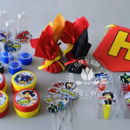 Kit festa infantil Liga da Justiça
