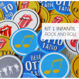 KIT FESTA INFANTIL ROCK AND ROLL
