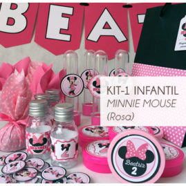 KIT FESTA INFANTIL MINNIE ROSA KIT1