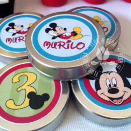 Kit Festa Infantil Mickey Mouse - Azul - Latinhas de alumínio