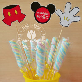 Kit Festa Infantil Mickey Mouse - Azul - Toppers decorativos