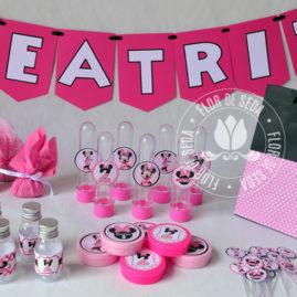 Kit festa infantil Minnie Rosa