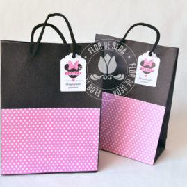 Kit festa infantil Minnie Rosa - Sacolas Personalizadas