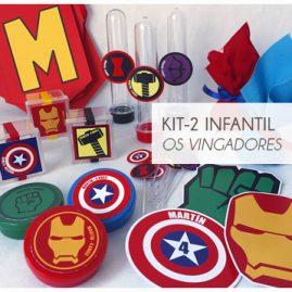KIT FESTA INFANTIL OS VINGADORES KIT2