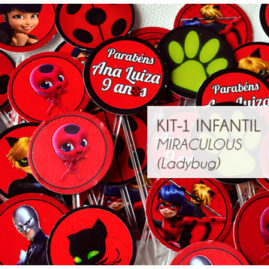 KIT FESTA INFANTIL MIRACULOUS LADYBUG KIT1