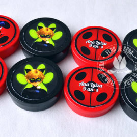 Kit festa infantil Miraculous Ladybug - latinhas de plástico