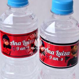 Kit festa infantil Miraculous Ladybug - rótulos para água