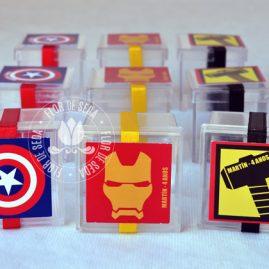 Kit festa infantil Os Vingadores (The Avengers)-caixinhas acrílicas