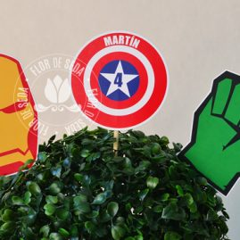 Kit festa infantil Os Vingadores (The Avengers) - Toppers decorativos