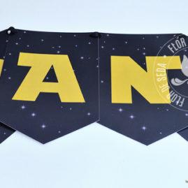 Kit festa Star Wars - Varal de bandeirolas impressas