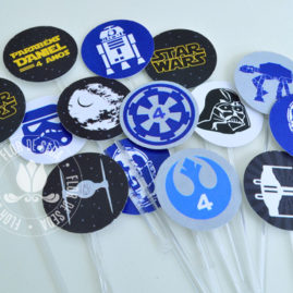 Kit festa Star Wars - Mini toppers para doces