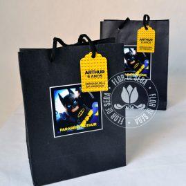 Kit festa infantil Batman Lego - Sacolas personalizadas