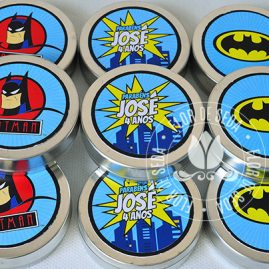 Kit festa infantil Batman-Latinhas de alumínio