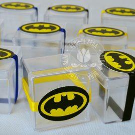 Kit festa infantil Batman-Caixinhas acrílicas