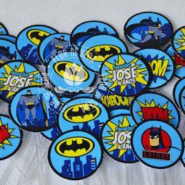 Kit festa infantil Batman-Mini toppers para doces