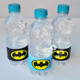 Kit festa infantil Batman-Rótulo de água